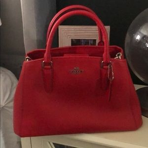 Beautiful red coach purse